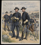 Victorian Trade Card 1880s J And P Coats Six Cord Thread Cotton Army Vtc-c198