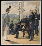 Victorian Trade Card 1880s J And P Coats Six Cord Thread Cotton Army Vtc-c189
