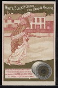 Victorian Trade Card 1880s J And P Coats Six Cord Thread Cotton Sewing Vtc-c118