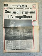 Evening Post Newspaper 21st July 1969 Man On The Moon Buzz Aldrin Neil Armstrong