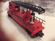 Lionel Trains 3512 Fireman And Ladder Car With Original Box