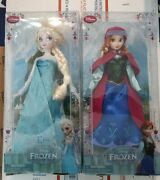 Original Disney Store Frozen Classic Doll Collection 12 Elsa And Anna Dolls New