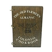 Vintage Old Farmers Almanac Colonial Cookbook First Edition Wooden Cover 1976