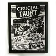 Crucial Taunt Gig Black And White Poster Modern Print Wall Hanging Home Decor