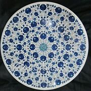36 Marble Dining Table Top Inlay With Lapis Lazuli Sofa Table Floral Design