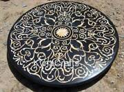 48 X 48 Inches Marble Dining Table Pietra Dura Art Office Table For Office
