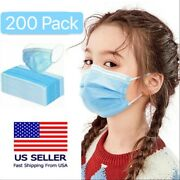 200pcs Kids Children Unisex Face Mask Mouth And Nose Protector Respirator Masks