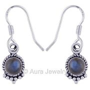 Silver Earrings For Womens And Girls With Labradorite Gemstone Jewelry E1737-6