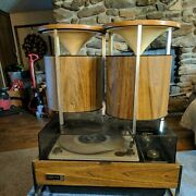Vintage Zenith Circle Of Sound Solid State Stereo Turntable With Speakers....