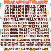 Nook Miles Tickets Bells 640 Diy Fast Delivery Online Animal Corssing Horizons