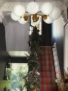 Mid Century Lamp Sputnik Atomic Chandelier From The 1960's 1970's, With 8 Balls
