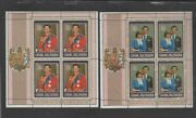 Cook Islands 659-660 1981 Royal Family Mint Vf Lh O.g Sheets Of 4
