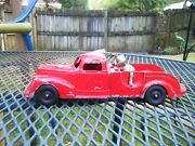 Vintage 1950's Hubley Kiddie Toy Red Tow Truck 474 9.5 Inches