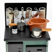 K's Collection Miniature Kitchen Stoves Green Hand Made Toy From Japan A500