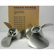 F6 Volvo Penta Genuine New Stainless Steel Props - Rear Only 3851476