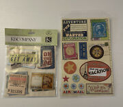 Travel Family Vacation Getaway Air Mail Postcard Scrapbook Stickers K And Company