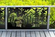 Loons Metal Privacy Screen Outdoor Aluminum Privacy Screen