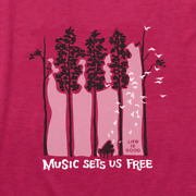 Nwt Womenand039s Life Is Good Piano Trees Red Ss Lightweight Cool Tee