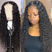 Brazilian Water Wave Curly 13x4 Lace Front Hair Wigs Deep Wave Lace Frontal Wig