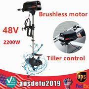48v 2200w Electric Trolling Motor Boat Outboard Engine Brushless 3000r/min Usa