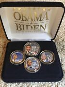 Obama Biden 2008 Coin Collection Set4 Coinshistoric Election By Merrick Mint