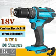18v 1/2 520nm Brushless Replace Impact Wrench Body For Makita Battery Dtw285z