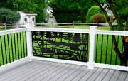 Privacy Panel - Metal Sculpture - Aluminum Privacy Screen - Duck Family Panel