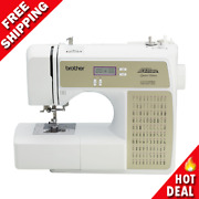 Computerized Project Runway Sewing Machine Diy Craft W/ Lcd Screen White New