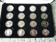 Susan B Anthony Complete 16 Coin Set In Capsules And Storage Case