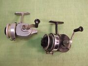 Vintage Lot Of 2 Lionel Airex Apache Bache Brown Mastereel Spinning Fishing Reel