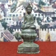 23 Collectible Thai Antique Buddha Statue From Chiang Rung Many Carved Pattern