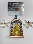 Disney Belle Fairytale Moments Sketchbook Ornament Beauty And Beast Nwt