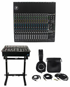 Mackie 1604vlz4 16-ch Compact Analog Mixer W/ 16 Onyx Preamps+stand+headphones