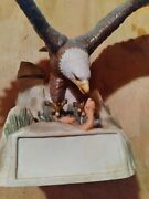 Bald Eagle Over Snake Country 1984 Liquor Whiskey Decanter Limited Edition