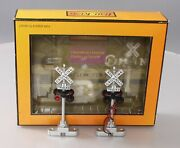 Mth 30-11014 Operating Crossing Flashers With Sound Ex/box