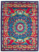 Vintage Hand-knotted Carpet 9'2 X 12'3 Traditional Oriental Wool Area Rug