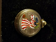 2000 1oz Silver Eagle Painted Walking Liberty Pocket Watch Limited Edition