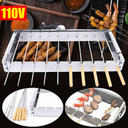 Electric Stainless Steel Camping Picnic Outdoor Bbq Grill Barbecue Automatic Usa