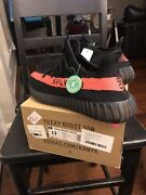 Size 13 - Adidas Yeezy Boost 350 V2 Red Stripe 2016 Core Black Res