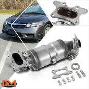 For 06-11 Honda Civic Dx/lx/ex Front Exhaust Manifold Catalytic Converter+gasket