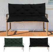 2 Seater Garden Bench Swing Chair Pad Replacement Seat Cushion Backrest Outdoor