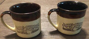 Vintage 1984 Hardees Rise Shine Homemade Biscuits Set Of 2 Coffee Cup Mug Retro