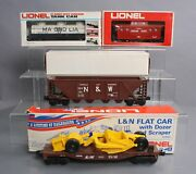 Lionel O Gauge Assorted Lot Of 4 Freight Cars/box
