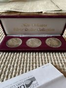 New Orleans Silver Dollar Collection 3 Coin Set. Grade Ms-60