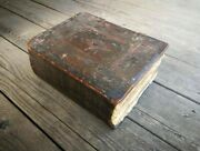 Old Rare C. 1650 Russian Orthodox Church Holy Prayer Antique Large Text Book