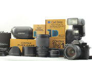 【mint+++】 Contax N1 Camera W/ Vario Sonnar T 24-85mm 70-300mm 2 Lens From Japan