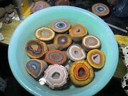 Top Rough Agate / Achat Nodule Chinese Fighting Blood Agate Xuanhua 1pair Ab