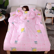 Winter Comforters Quilt With Sleeves Blanket Cape Cloak Nap Covered Blanket