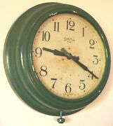 Ww2 Era Smiths 8 Day Bakelite Wall Clock C. 1940s - Made In England