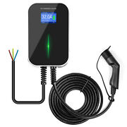 32a Ev Charging Station Wallbox 1 Phase Type 2 Electric Car Charger 7kw 6.1m